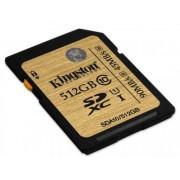 Card de memorie Kingston SDXC 512GB, Clasa 10, UHS1, 90MB/s Citire, 45MB/s Scriere