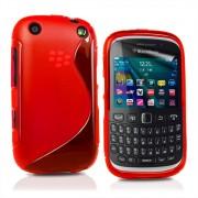 BlackBerry Curve 9320 Силиконов Калъф Червен + Протектор