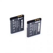 INTENSILO 2 x Li-Ion Batterie 700mAh (3.6V) pour appareil photo, caméscope Toshiba Camileo PX1686, SX-500, SX-900 comme D-Li88, VW-VBX070, DB-L80.