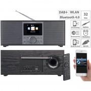 VR-Radio Stereo-Internetradio mit DAB+, FM, Bluetooth, Wecker, 32 Watt, schwarz