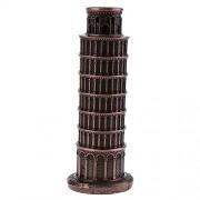 Caldipree Leaning Tower of Pisa Model Home Decor Metal Craft Furnishing Article 15.8CM
