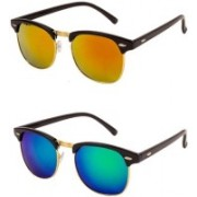 Adrian Clubmaster Sunglasses(Yellow, Blue)