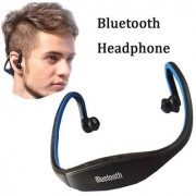 MS KING Wireless Bluetooth On-ear Sports Headset Headphones (with Micro Sd Card Slot and FM Radio) COMPATIBLE with XiaoRed3S Plus (BLUE)