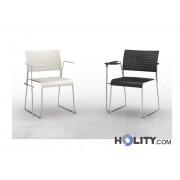 Sedia Per Sala Conferenza Ignifuga Con Ribaltina H17727