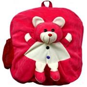 Blue Tree School Bag for Kids/Girls/Boys/Children Plush Soft Bag Backpack Teddy Cartoon Bag Gift for Kids Cartoon Toy Cute Birthday Return Gift/ School Bag/ Travelling Carry Picnic Bag/ Teddy Bag For Children (Rani Pink_3 to 5 Year)
