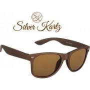 Silver Kartz Wayfarer Sunglasses(Brown)