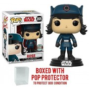 Funko Pop! Star Wars: The Last Jedi - Rose in Disguise Specialty Series #205 Vinyl Figure (Bundled with Pop BOX PROTECTOR CASE)