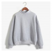 8 Colores OtoñO Invierno Mujeres Pullover Casual Manga-Gris