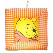 Tablou textil pentru perete Winnie the Pooh, portocaliu carouri