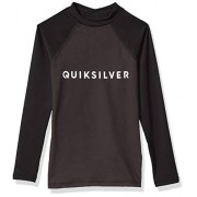 Quiksilver Little Always There Playera de Manga Larga para niño UPF 50+, Asfalto, M
