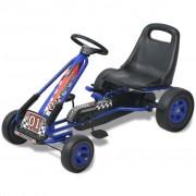 vidaXL Go Kart a pedali con seduta regolabile Blu