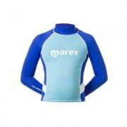 Uv-tröja barn rash guard junior med lång ärm blå/blå - Mares (Storlek: 140/146 cl)