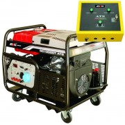 Generator Curent Electric Senci SC13000T-ATS, 12000W, 400V, AVR si ATS inclus, Motor benzina, Demaraj electric