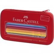 Creioane colorate si creion grafit 16 culori/set FABER-CASTELL Grip 2001, FC112450