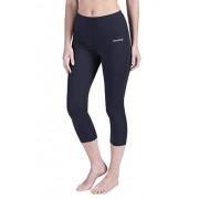 SYKROO Leggings de cintura alta para mujer, para yoga, correr, entrenamiento, control de barriga con bolsillo, Negro (01 Black), L