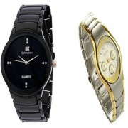 IIK Collction Black and Rosra Gold and Silver Women Watches Couple for Men and Women