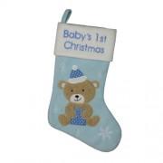 Cizmulita bleu pentru cadouri Baby's First Cristmas