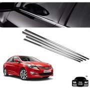 Trigcars Hyundai Verna New Car Window Lower Garnish Chrome