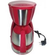 Smiledrive Drip Coffee Maker Machine with Metal Jar 7 Cups Coffee Maker(Red)
