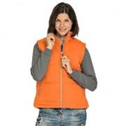 Lemon & Soda Oranje sport bodywarmers windproof voor dames