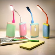 Pack of 2 USB LED Light for PC Mobile Phones and USB Chargers (Colors May Vary)