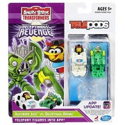 Telepods Angry Birds Transformers Telepods Autobird Jazz Bird Vs. Deceptihog Brawl Pig Figure 2-Pack