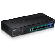 Conmutador Trendent TPE 082WS 10X10 / 100 / 1000 (POE+) + 2X Gigabit SFP