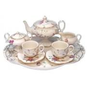 Childrens 10 Piece Mini Tea Set of Two, Sashas Garden