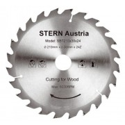 Disc ferastrau circular Stern 24 dinti, 185 mm, 6000 rpm, SBT185/24