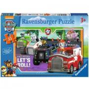Puzzle Lett's Roll! Patrula Catelusilor Ravensburger 35 piese