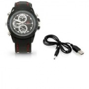 Spy Camera Leather Wrist Watch with Audio Video Recording BEST PRICE GUARANTEE PREMIUM QUALITY FAST SHIPPING