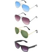 Abner Aviator, Wayfarer Sunglasses(Blue, Brown, Green, Black)