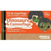 NAMAKI Kit maquillage bio 3 couleurs - Dinosaure et Camouflage