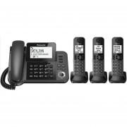 Teléfono Fijo + 3 Inalámbricos Panasonic Kx-tg57-Negro