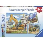 PUZZLE VEHICULE DE CONSTRUCTIE 3x49 PIESE Ravensburger