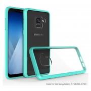 Funda Samsung A8 Plus 2018 Acrilico Con Bumper Menta