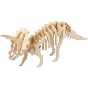 Houten bouwpakket Triceratops 3D met app