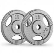 IP3H 5 5 Par de Placas de Peso 30 milímetros 5 kg Cinzento