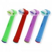 James Zhou 4-pack färgglada kompatibla tandborsthuvud till Oral-B, 4 olika färger