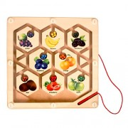 Fruit Maze - Wooden Toys - Brainsmith - Early Learning - Hand eye coordination - Fine Motor Skill - Concentration buidling - Counting Skills - Brain Development - Birthday gift - Return Favour - Play and Learn - Child safe toys - 3 years and above
