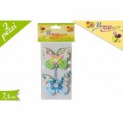 Pasqua allegra decorazione pendaglio a forma di farfalla 7,5 cm 2 pezzi 680172 617