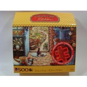Country Kitchens 500 Piece Jigsaw Puzzle w/Cookie Cutter: Blue Stove