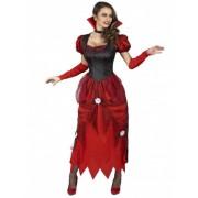 Disfraz de vampiro con rosas blancas Mujer S