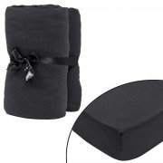 Anthracite Fitted Sheet for Mattress 120x200-130x200cm Cotton Jersey