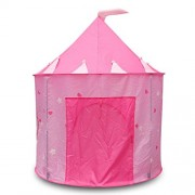 Phenovo Kids Baby Playhouse Pink Pop-up Princess Folding Castle Play Tent Home/Beach/Garden/Day Care/Camping Outdoor Toy