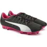 Puma evoPOWER Vigor 4 FG Football Shoes For Men(Black, Silver)