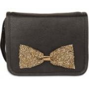 Desi Drama Queen Bow Bag - Black School Bag(Multicolor, 5 inch)