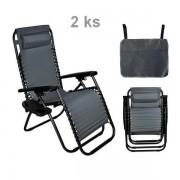 Kerti összecsukható szék/nyugágy Atlanta 2 db