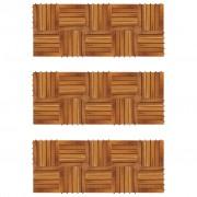 vidaXL Akaatsia puidust terrassiplaadid 30 x 30 cm 30 tk