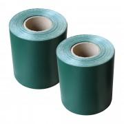 Комплект от 2 броя фолио за ограда [neu.haus] ®, предпазва от любопитни погледи, вятър или звукове, 19 cm x 35 m / 7m², Зелено, с UV защита